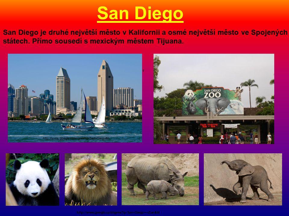 San Diego »http://www.google.cz/imgres q=San+Diego-+Zoo&hl San Diego je druhé největší město v Kalifornii a osmé největší město ve Spojených státech.