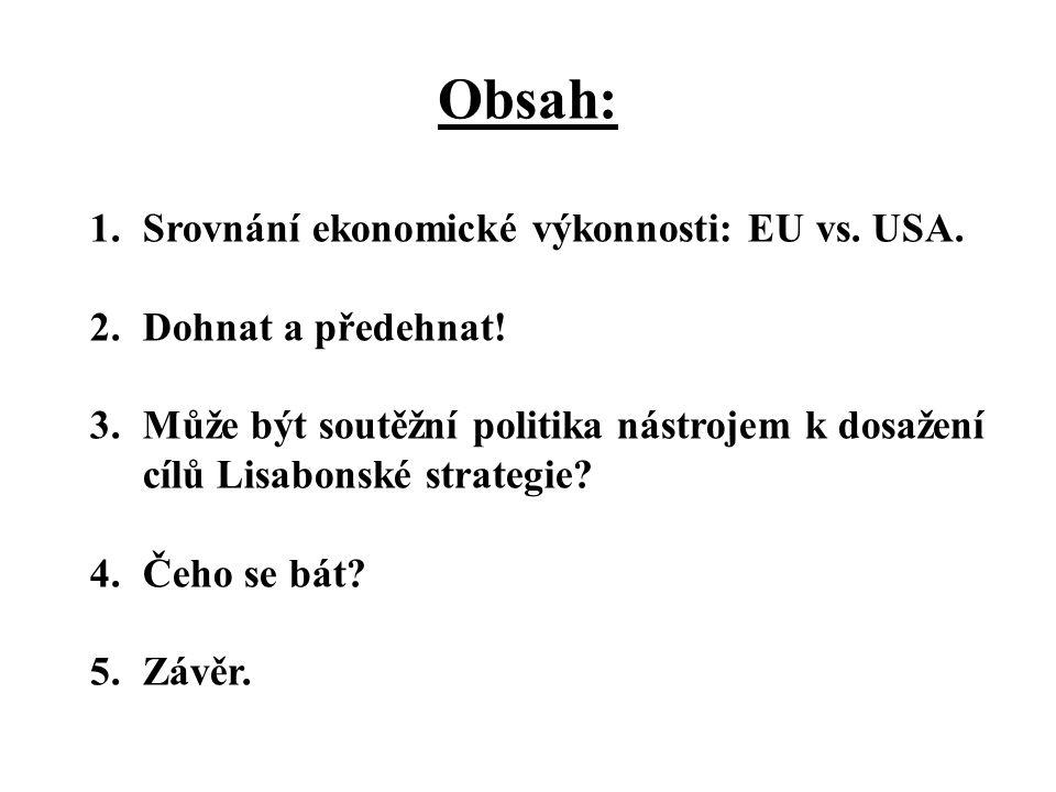 Obsah: 1.Srovnání ekonomické výkonnosti: EU vs. USA.