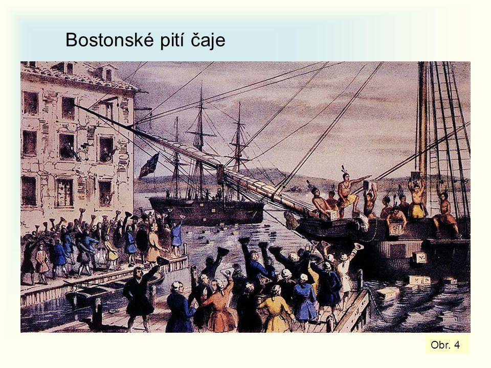 Bostonské pití čaje Obr. 4