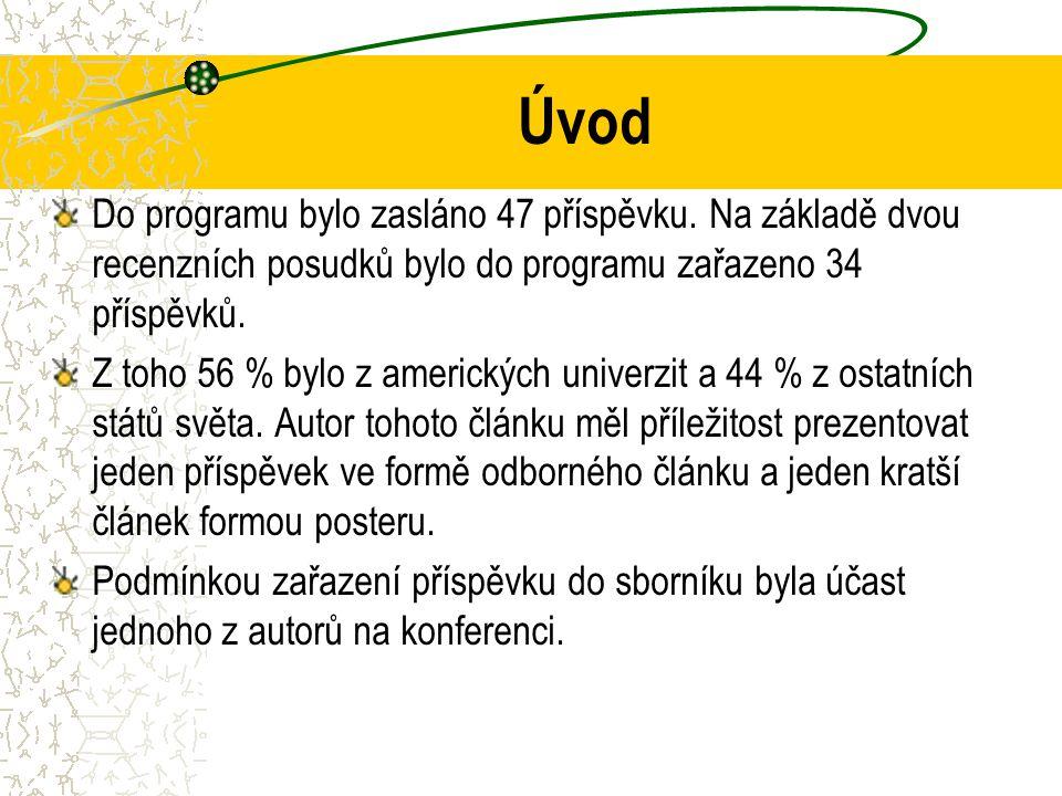 Úvod Do programu bylo zasláno 47 příspěvku.