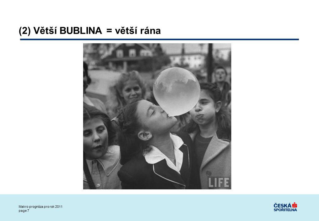 Makro prognóza pro rok 2011 page 8 Větší bublina (300% vs.