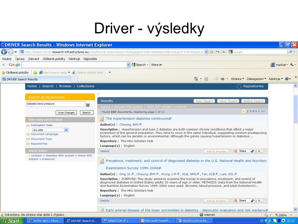 Driver - výsledky
