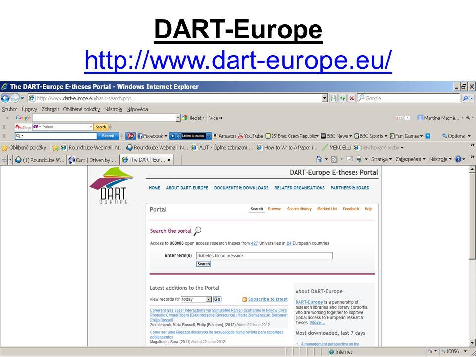 DART-Europe http://www.dart-europe.eu/ http://www.dart-europe.eu/