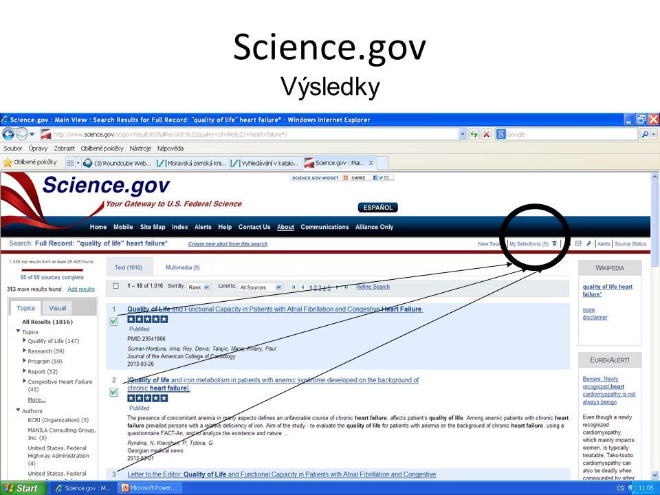 Science.gov Výsledky