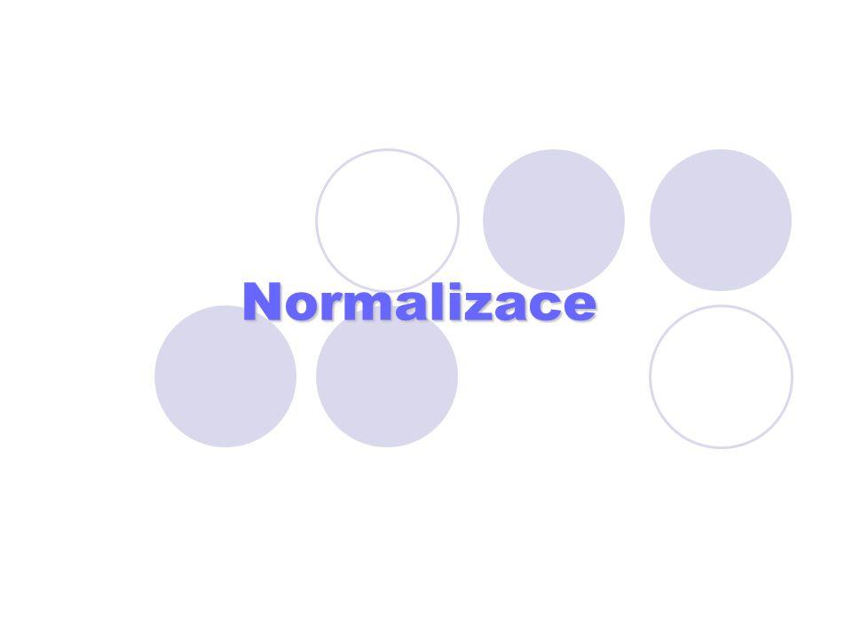 Normalizace
