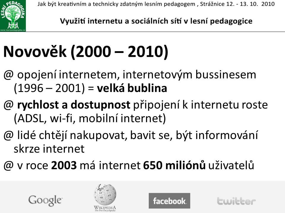 """Web 2.0 @ termín definován v roce 1999 @ web 2.0 je typicky tvořen uživateli a pro uživatele a nahrazuje tak statický """"starý obsah webů… @příklady využití technologií web 2.0 @ blog, wiki, mashup, sdílení obsahu, sociální sítě"""