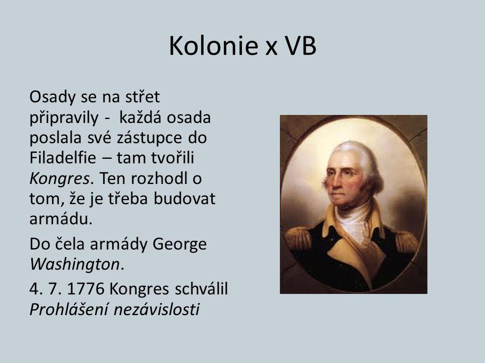 Kolonie x VB Osady se na střet připravily - každá osada poslala své zástupce do Filadelfie – tam tvořili Kongres. Ten rozhodl o tom, že je třeba budov