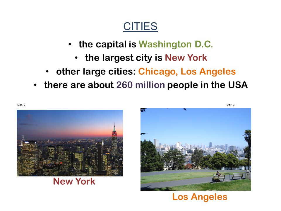 CITIES the capital is Washington D.C.