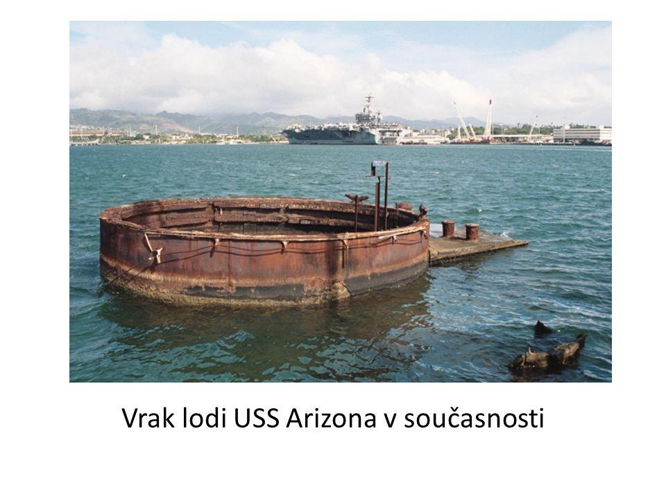 Vrak lodi USS Arizona v současnosti