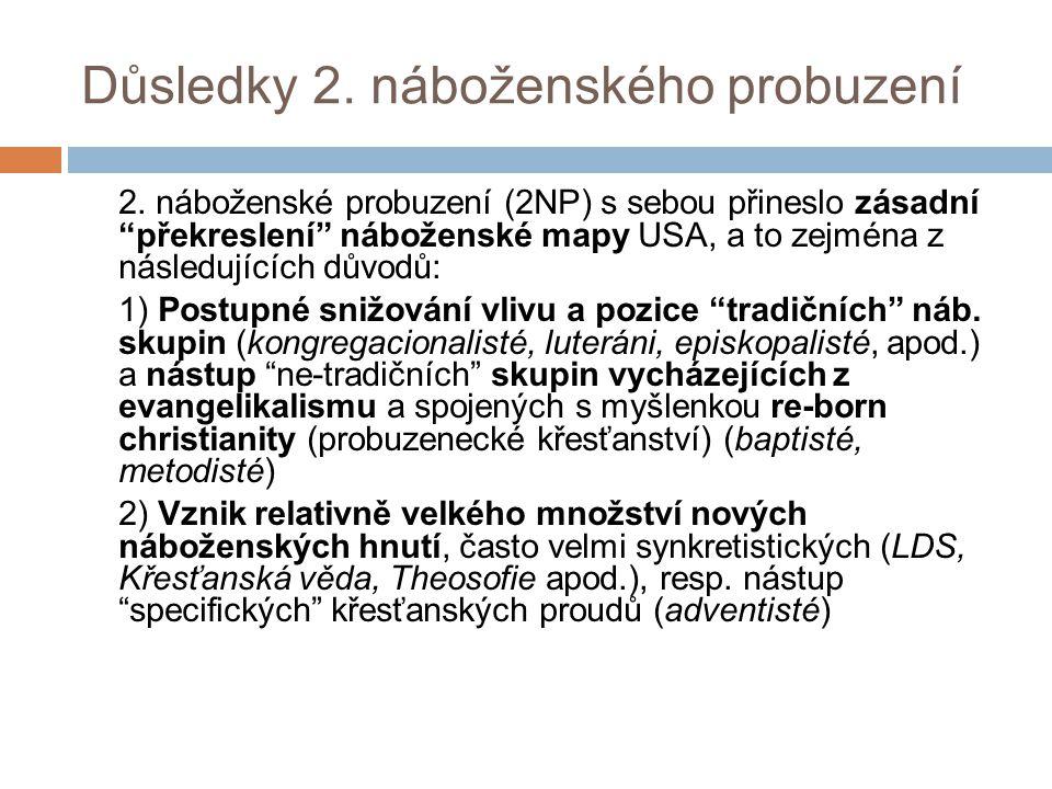 Důsledky 2. náboženského probuzení 2.