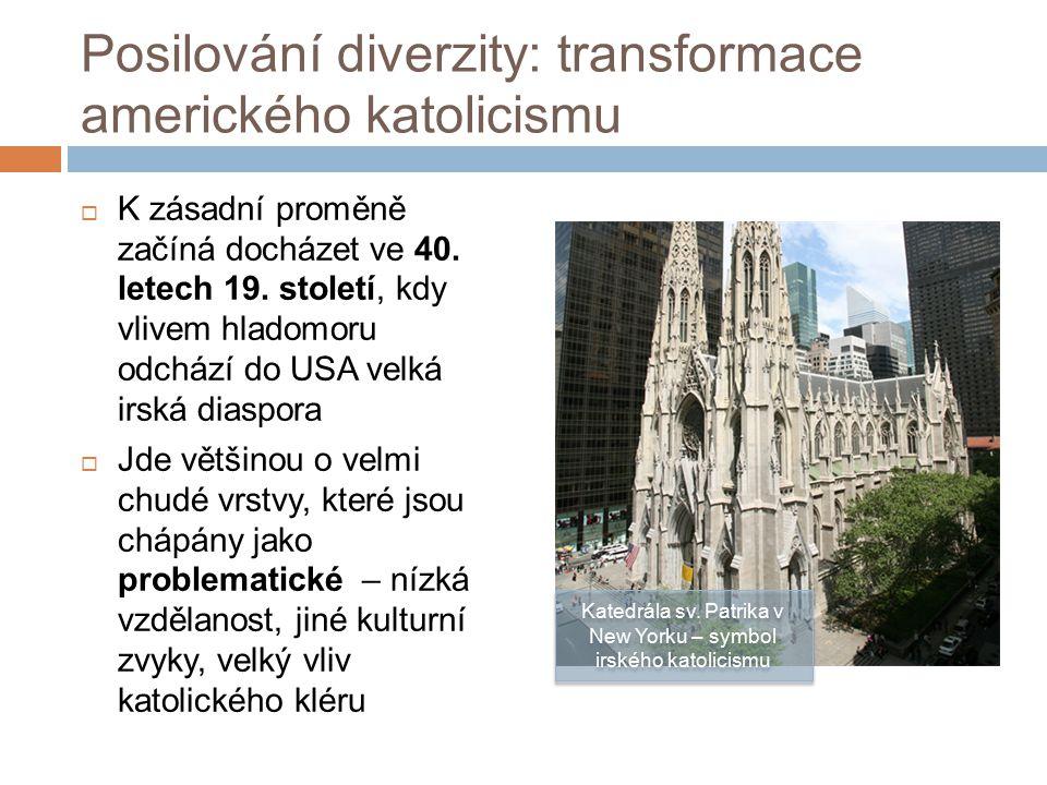 Posilování diverzity: transformace amerického katolicismu  K zásadní proměně začíná docházet ve 40.