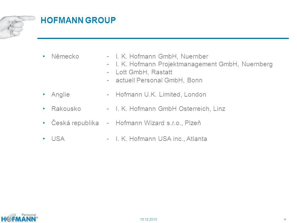 4 HOFMANN GROUP 13.12.2013 Německo-I. K. Hofmann GmbH, Nuernber -I. K. Hofmann Projektmanagement GmbH, Nuernberg -Lott GmbH, Rastatt -actuell Personal