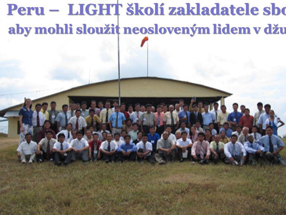 Peru – LIGHT školí zakladatele sborů, aby mohli sloužit neosloveným lidem v džungli
