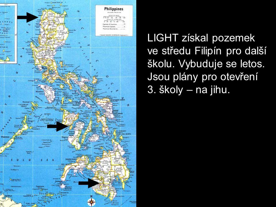 LIGHT získal pozemek ve středu Filipín pro další školu.