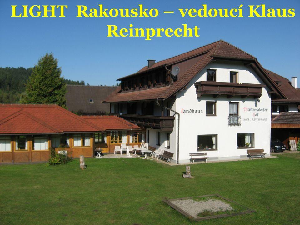 LIGHT Rakousko – vedoucí Klaus Reinprecht