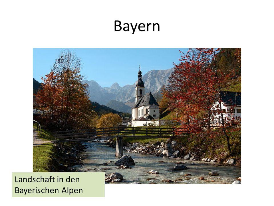 Bayern Landschaft in den Bayerischen Alpen