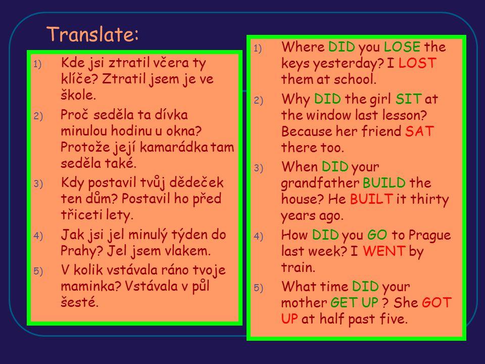 Zjišťovací otázky Otázky bez tázacích zájmen, na které odpovídáme v čestině ano, ne V angličtině odpovídáme KRÁTKOU ODPOVĚDÍ = SHORT ANSWER Krátká odpověď má úpřesně stanovená pravidla, skládá se z: YES, NO + PODMĚT ( vždy tvořen osobním zájmenem) + DID / DIDN´T