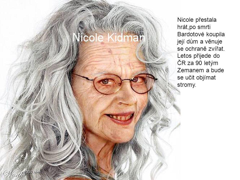 Nicole přestala hrát,po smrti Bardotové koupila její dům a věnuje se ochraně zvířat.