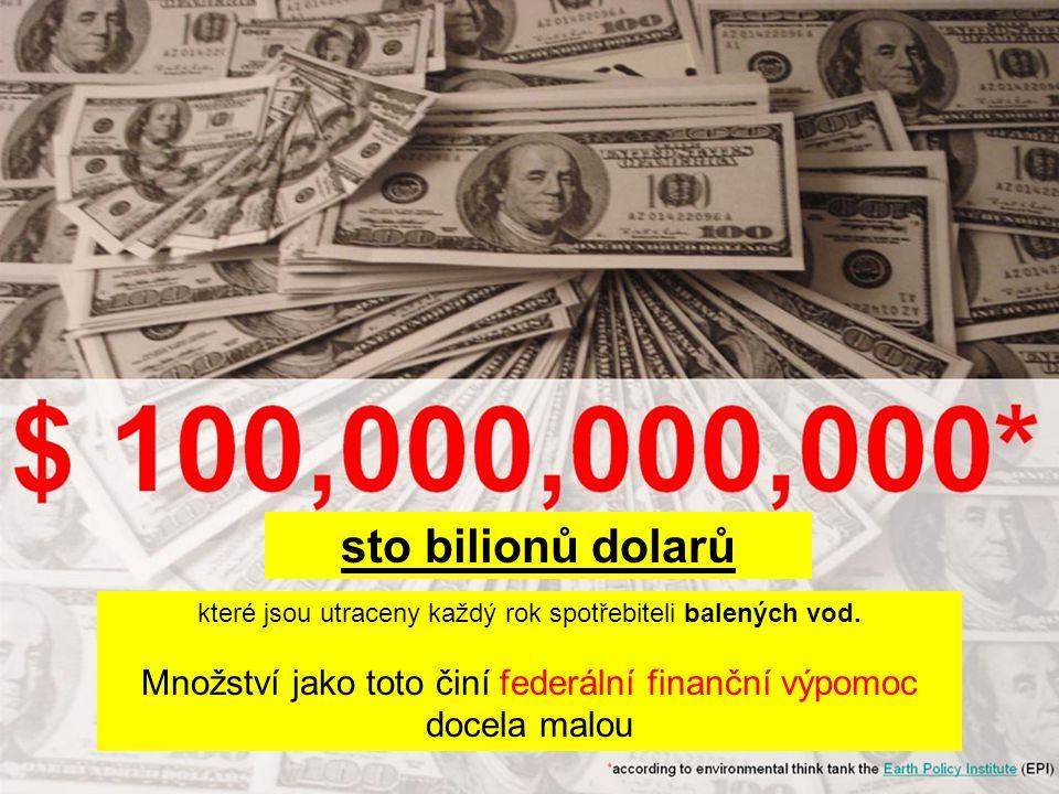 sto bilionů dolarů které jsou utraceny každý rok spotřebiteli balených vod.