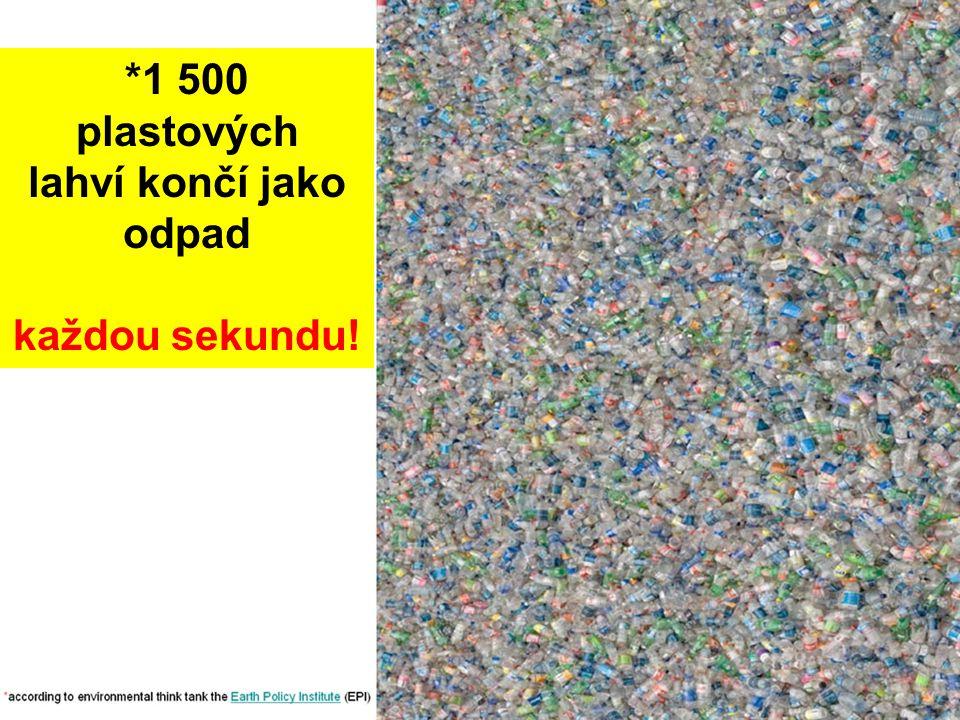 *1 500 plastových lahví končí jako odpad každou sekundu!