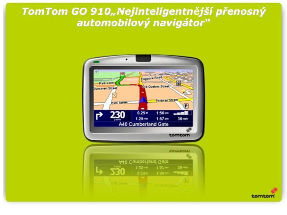 """TomTom GO 910""""Nejinteligentnjší přenosný automobilový navigátor TomTom GO 910""""Nejinteligentnější přenosný automobilový navigátor"""