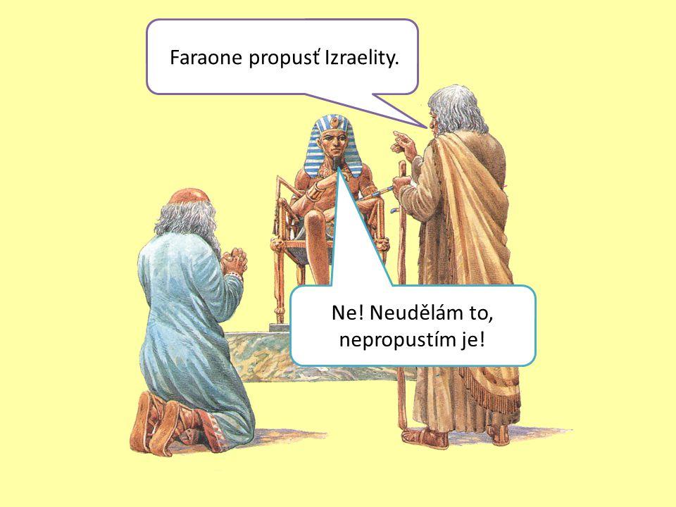 Faraone propusť Izraelity. Ne! Neudělám to, nepropustím je!