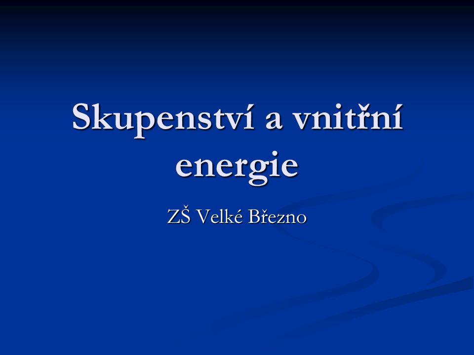 Skupenství a vnitřní energie ZŠ Velké Březno