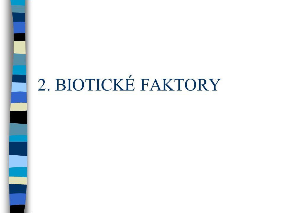 2. BIOTICKÉ FAKTORY