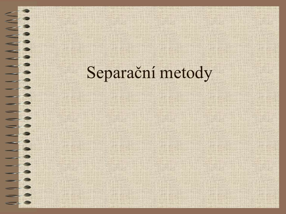 Separační metody