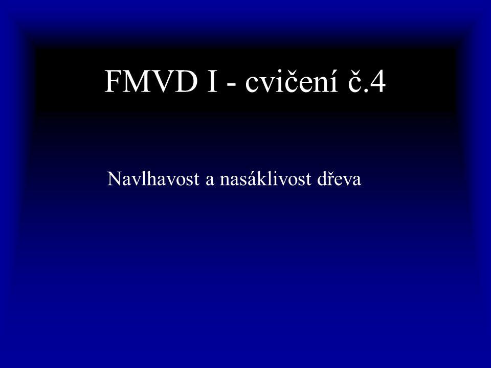 FMVD I - cvičení č.4 Navlhavost a nasáklivost dřeva