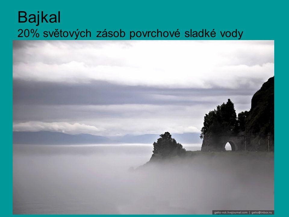 Bajkal 20% světových zásob povrchové sladké vody