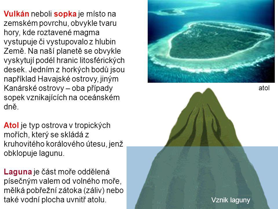 Vulkán neboli sopka je místo na zemském povrchu, obvykle tvaru hory, kde roztavené magma vystupuje či vystupovalo z hlubin Země. Na naší planetě se ob