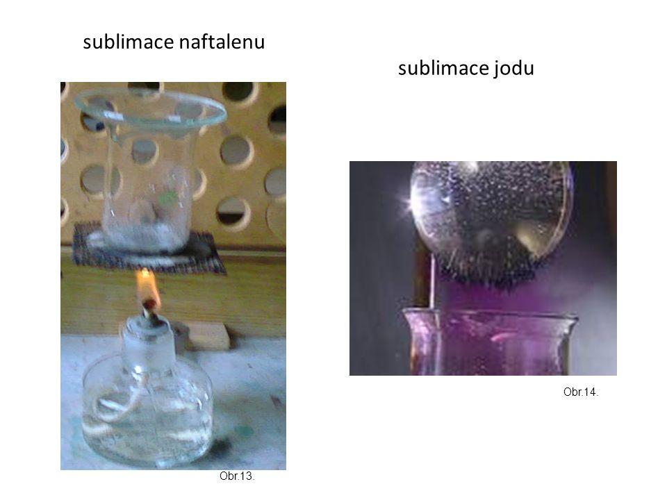 sublimace jodu sublimace naftalenu Obr.14. Obr.13.