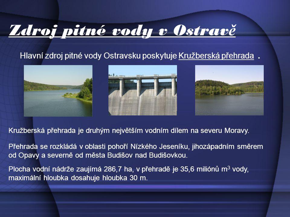 Zdroj pitné vody v Ostrav ě Hlavní zdroj pitné vody Ostravsku poskytuje Kružberská přehrada.