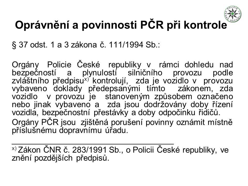 Povinnosti odesilatele (§ 23 odst.