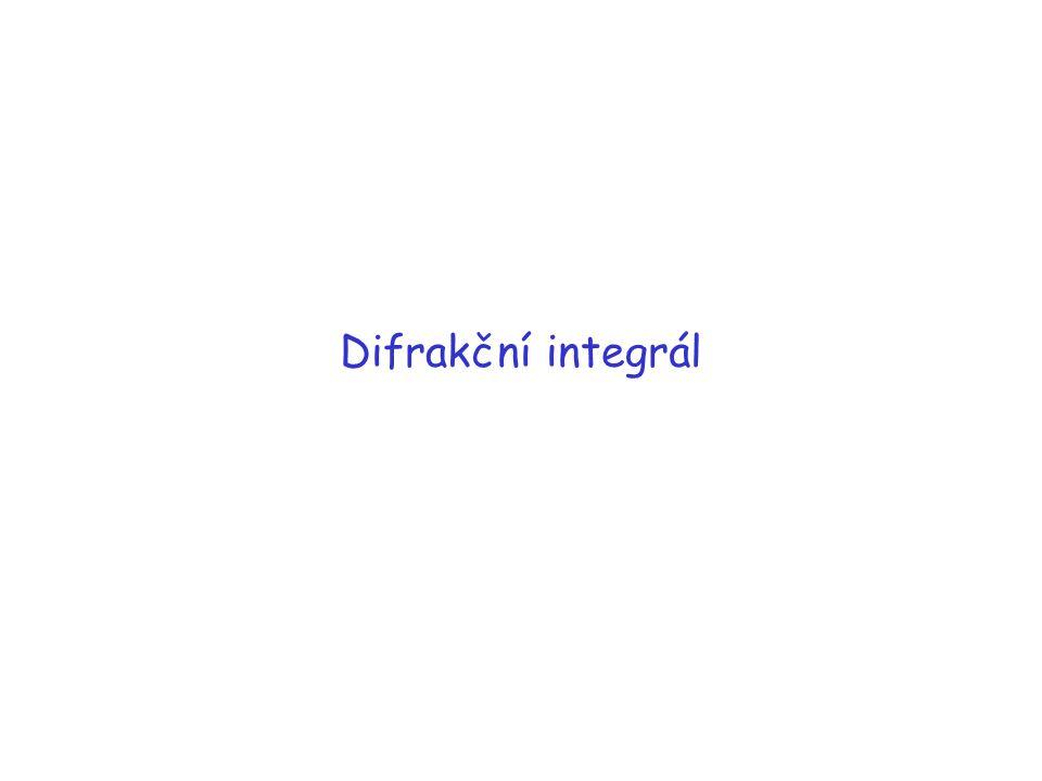 Fresnelova - rozložení intenzity jako funkce polohy v nějaké rovině pozorování umístěné v konečné vzdálenosti Fraunhoferova - rozložení intenzity jako funkce směru (t.j.