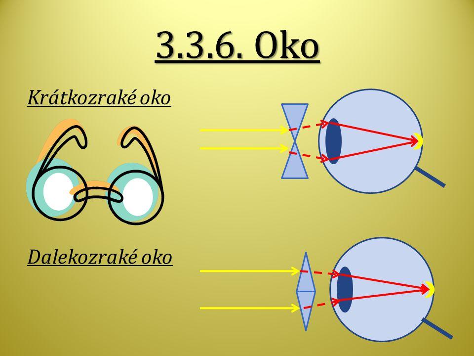 3.3.6. Oko Krátkozraké oko Dalekozraké oko