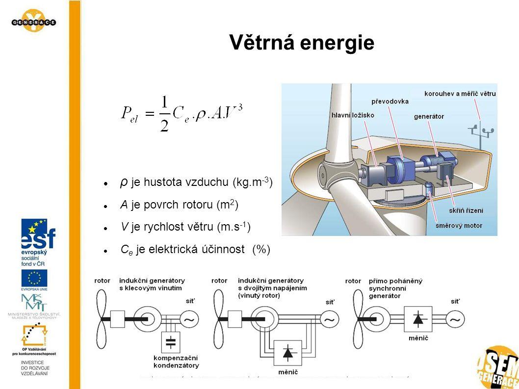 Solární energie Aktivní – přeměňují sluneční záření na elektrickou energii Pasivní – přeměňují sluneční záření na teplo pomocí kolektoru Na Zem dopadá sluneční záření 1,8.10 17 W Solární konstanta 1370 W.m -2 (energie dopadající na povrh atmosféry) Doba svitu 1600 - 2200 hodin
