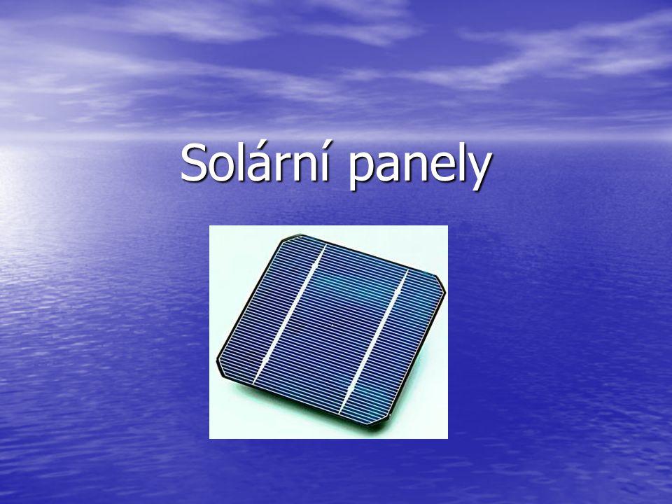 Jak solární panely fungují.Jak solární panely fungují.