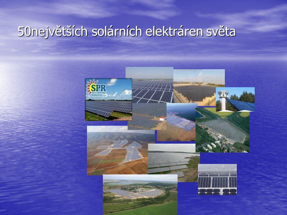 50největších solárních elektráren světa