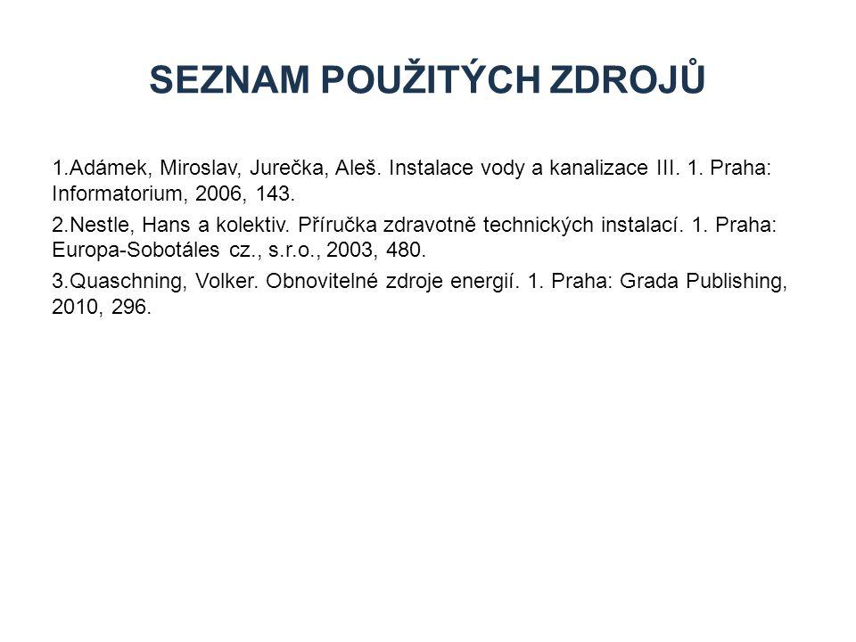 1.Adámek, Miroslav, Jurečka, Aleš.Instalace vody a kanalizace III.