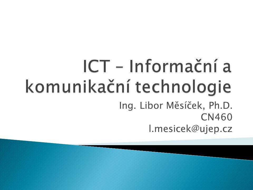  Výklad: ◦ jednotlivé součásti počítače a práce s nimi ◦ práce s periferiemi počítače ◦ bezpečné používání počítače ◦ počítačové sítě 2ICT - 2.