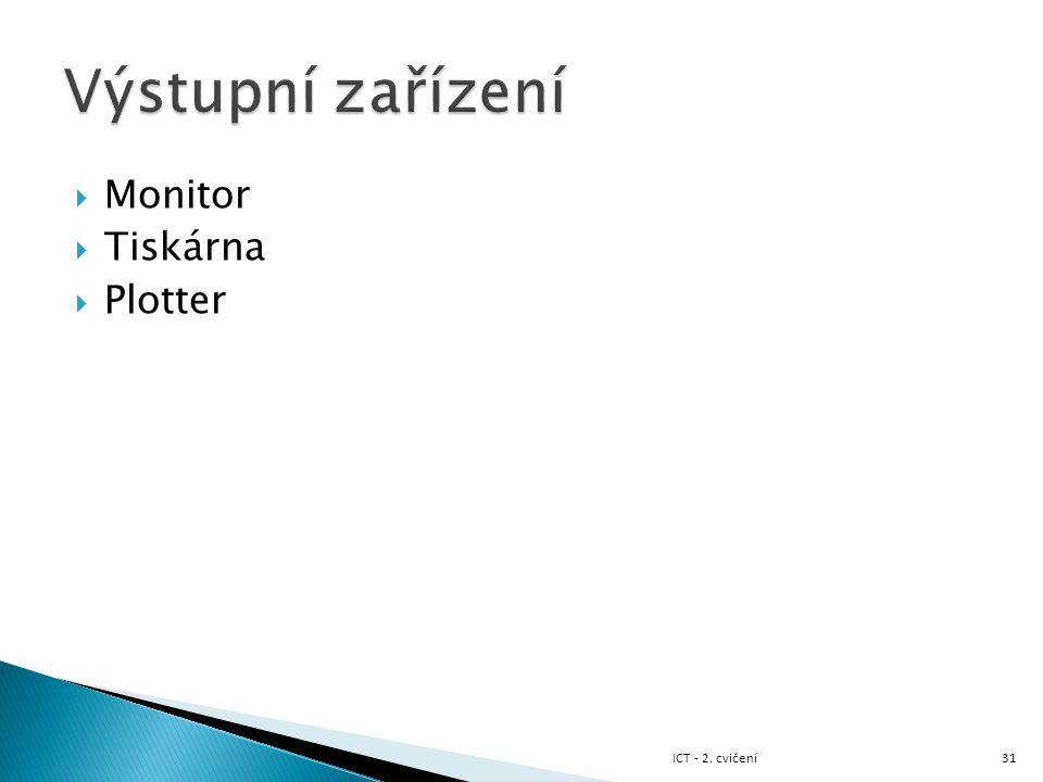  Monitor  Tiskárna  Plotter 31ICT - 2. cvičení