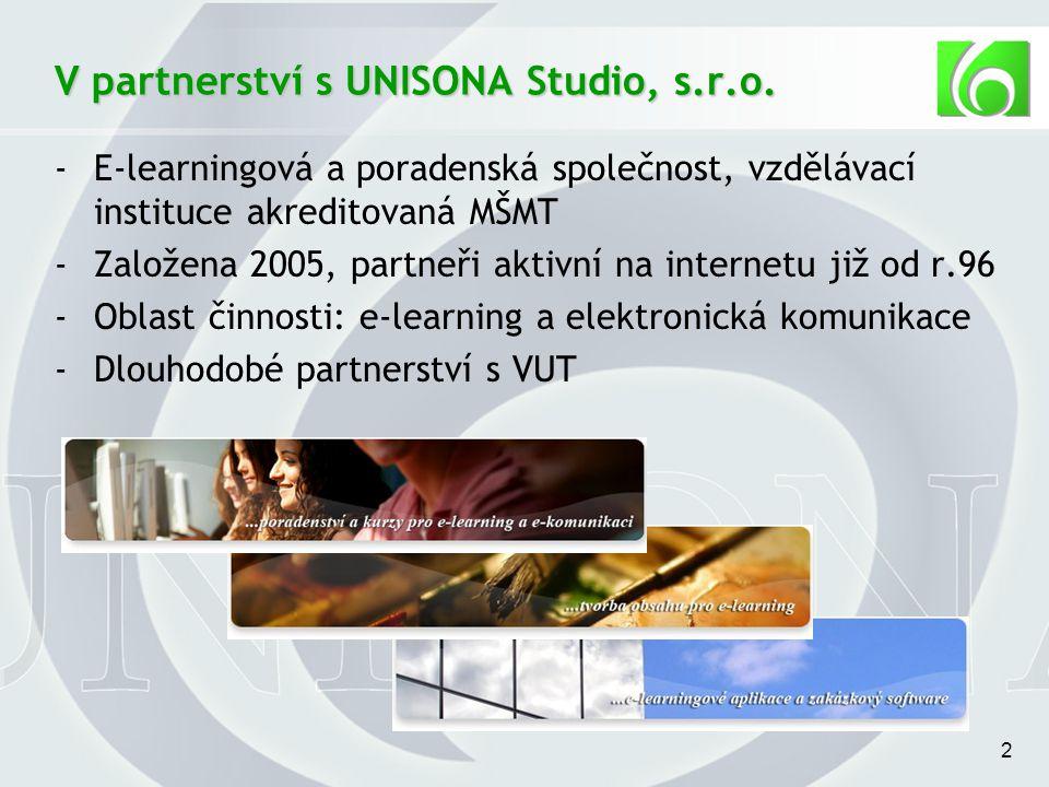 2 V partnerství s UNISONA Studio, s.r.o.