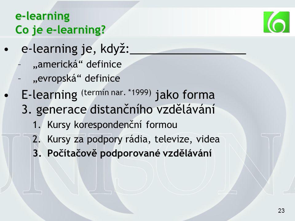 23 e-learning Co je e-learning.