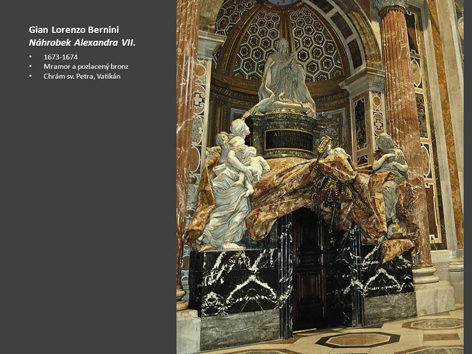 Gian Lorenzo Bernini Náhrobek Alexandra VII.