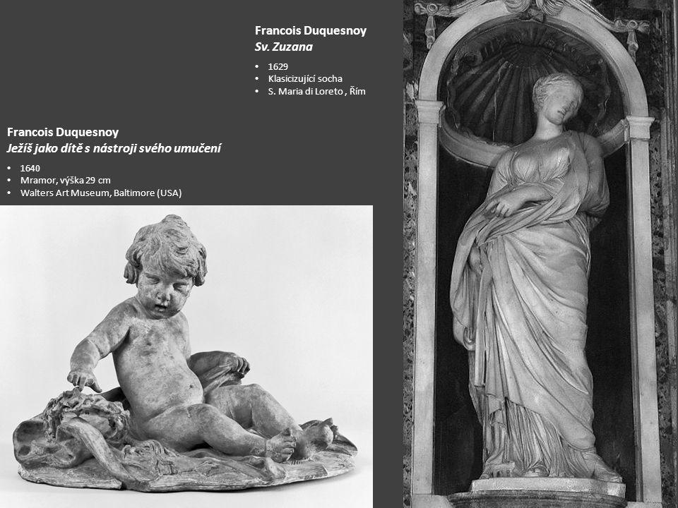 Francois Duquesnoy Sv.Zuzana 1629 Klasicizující socha S.