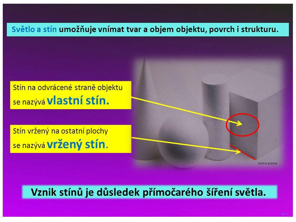 ©c.zuk Stín na odvrácené straně objektu se nazývá vlastní stín.