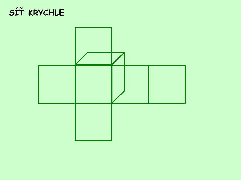 OBJEM KRYCHLE a a a V = a. a. a Objem krychle je součin všech tří jeho rozměrů.