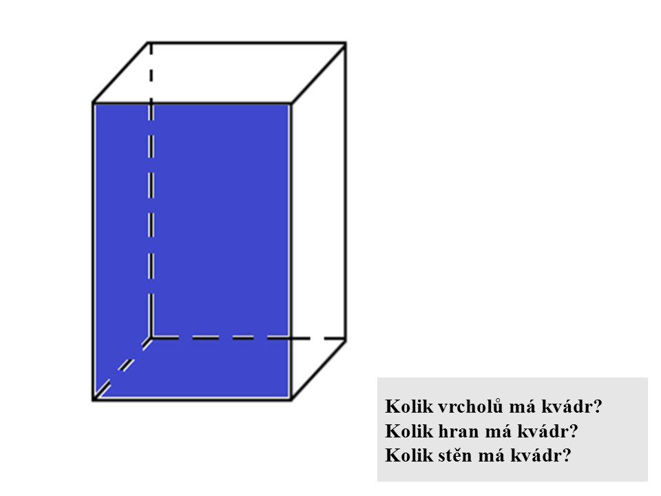 Kolik vrcholů má kvádr? Kolik hran má kvádr? Kolik stěn má kvádr?